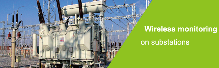 Wireless monitoring on substations