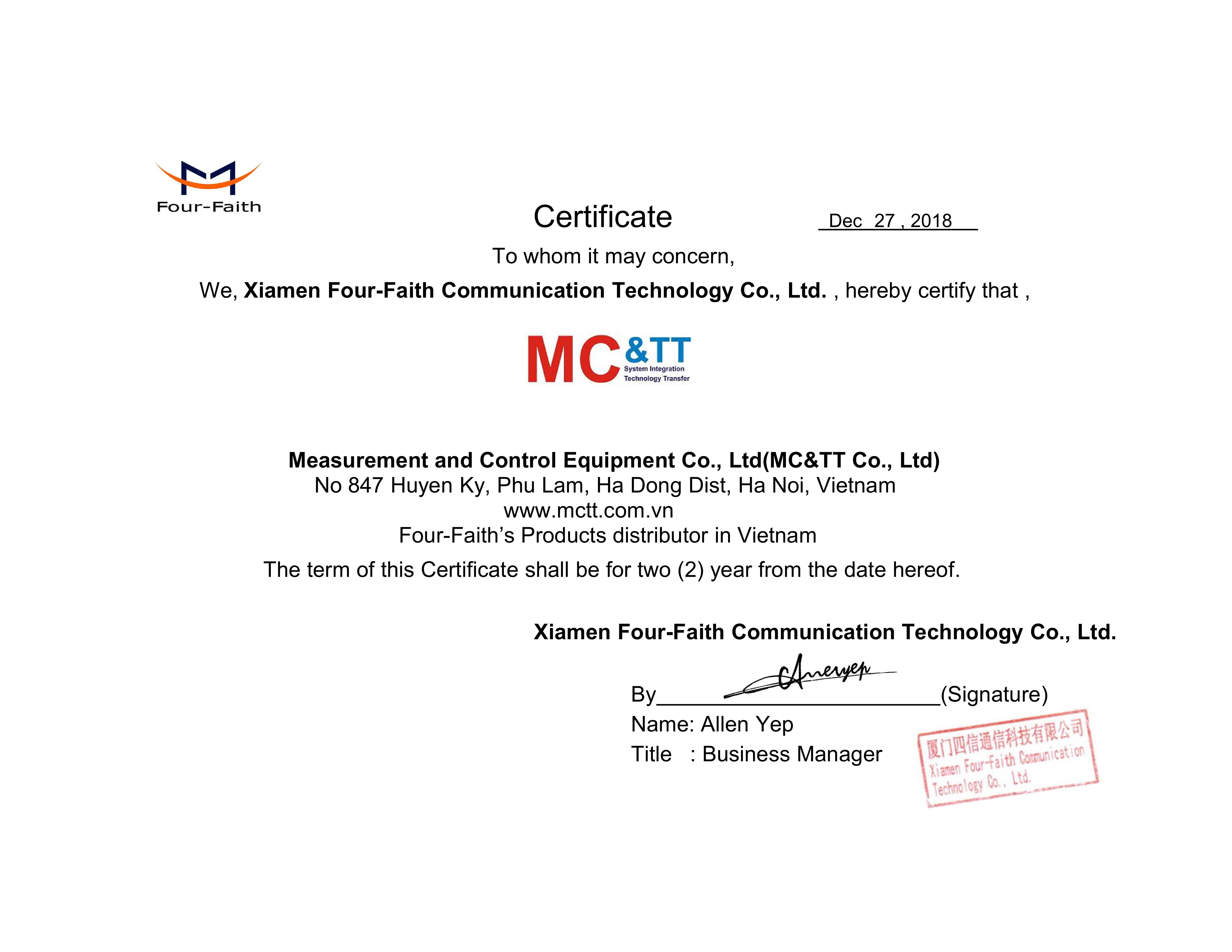 2018 Certificate MC&TT Vietnam_001